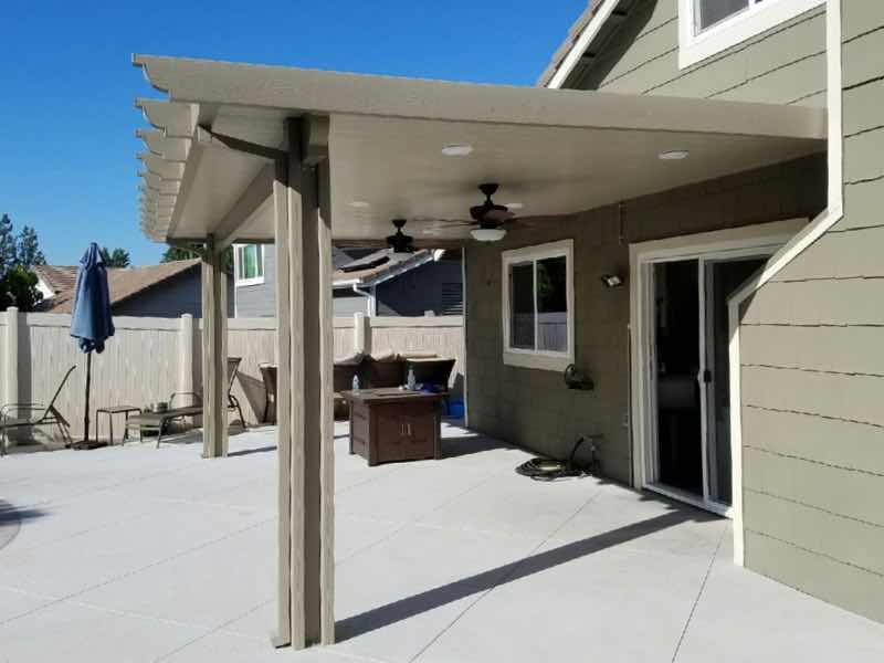 Patio cover installed in Corona CA