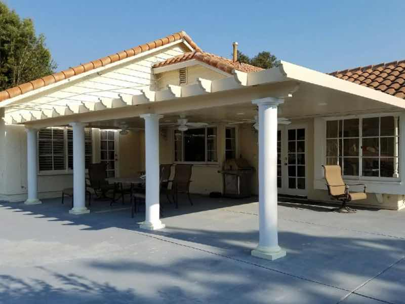 Patio cover installed in Anaheim Hills CA