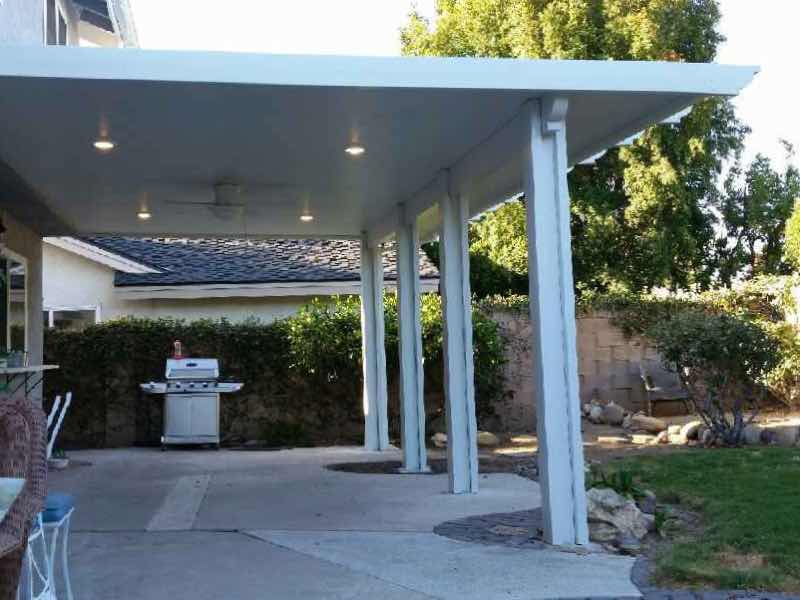 Anaheim Hills CA home with a new patio cover installed.