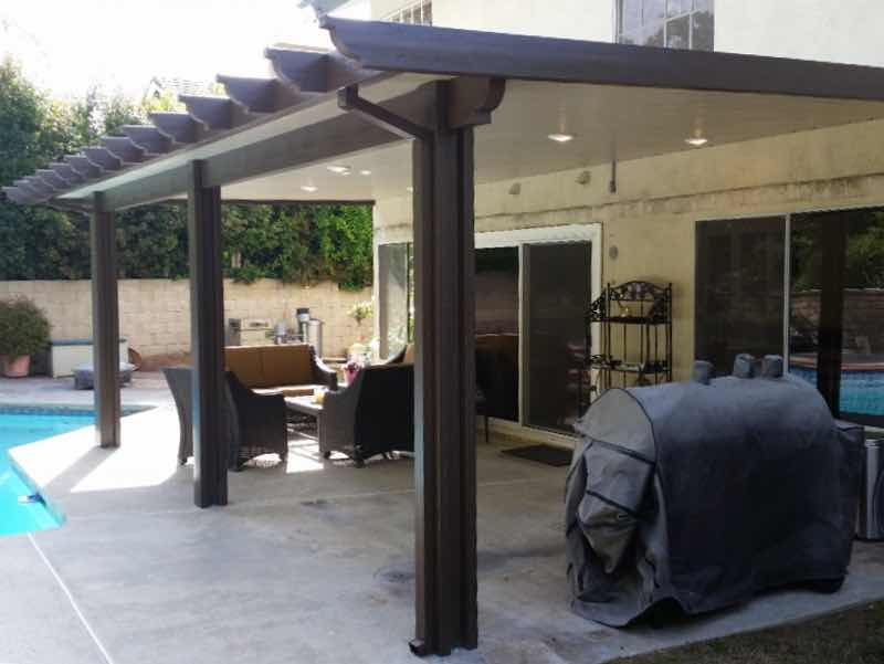 Upland CA home with a new patio cover installed.