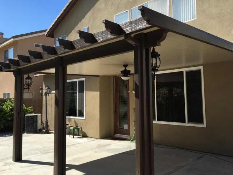Patio cover installed in Chino Hills CA