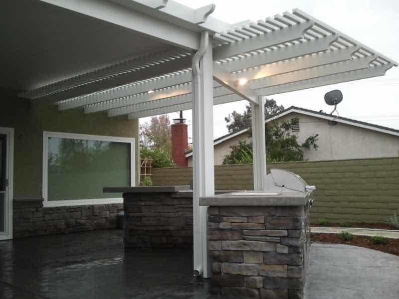 Chino Hills CA home with a new patio cover installed.