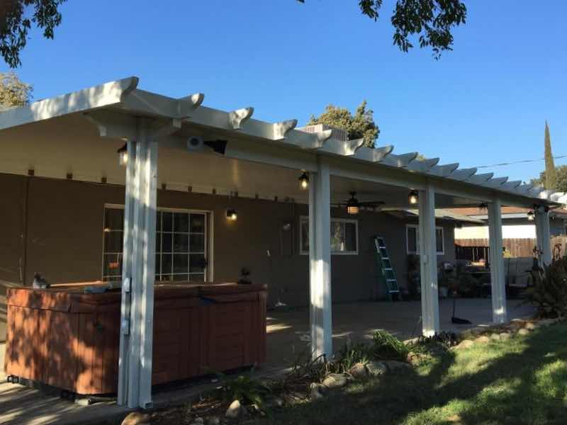 Patio cover installed in Claremont CA
