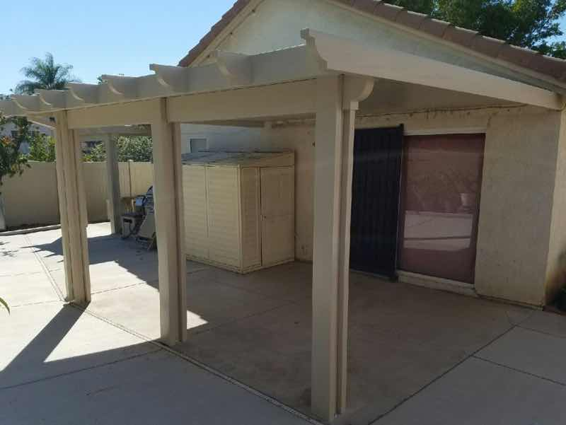 Claremont CA home with a new patio cover installed.