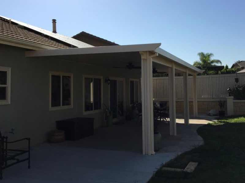Diamond Bar CA home with a new patio cover installed.