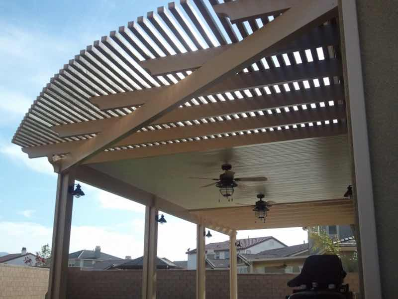 Patio cover installed in Eastvale CA