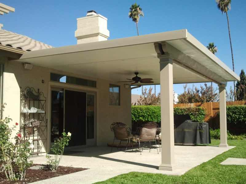 Eastvale CA home with a new patio cover installed.