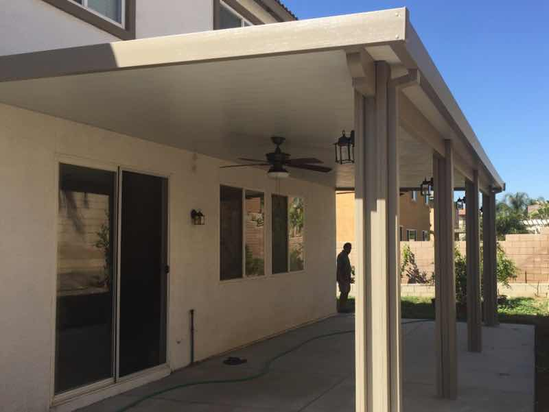 Patio cover installed in Moreno Valley CA