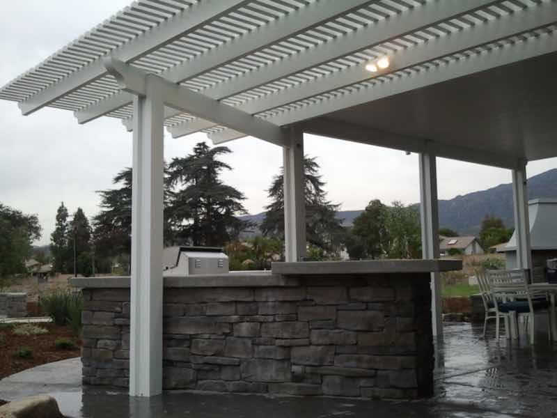 Moreno Valley CA home with a new patio cover installed.