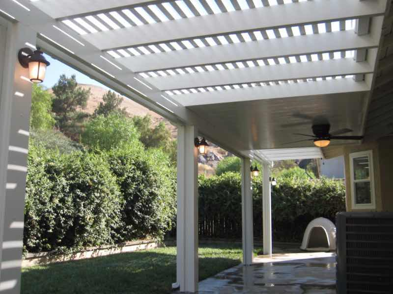 Patio cover installation completed in Norco CA