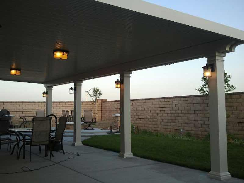 Norco CA home with a new patio cover installed.