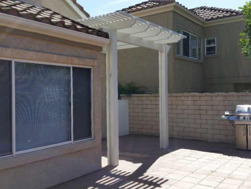 Ontario CA home with a new patio cover installed.