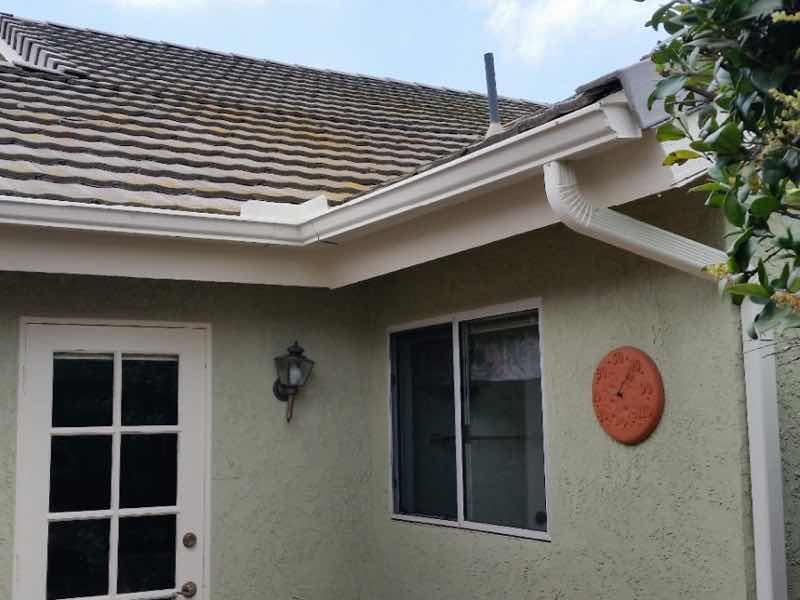 Anaheim Hills CA home with a new rain gutter installed.