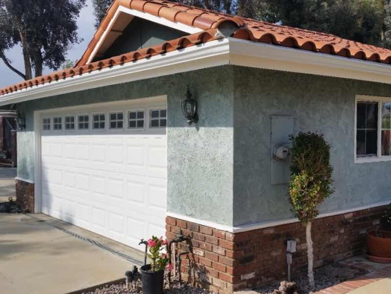 Rain gutter installed in Anaheim Hills CA