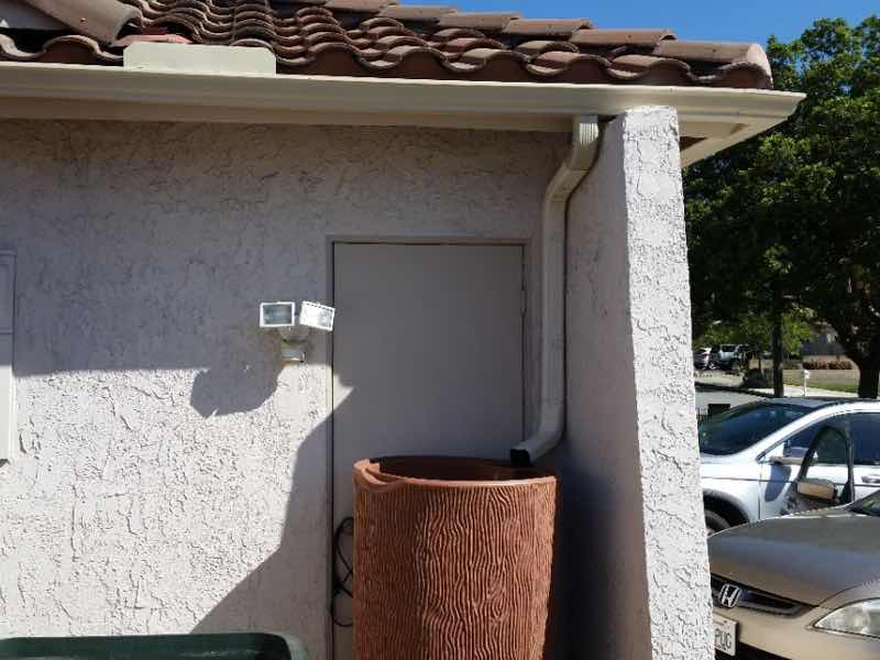 Seamless rain gutter installed in Upland CA