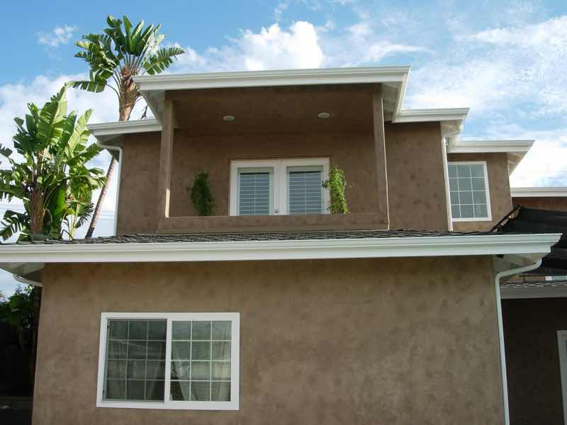 Seamless rain gutter installed in Chino CA