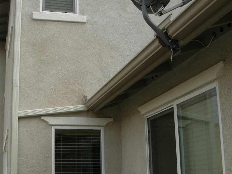 Rain gutter installed in Mira Loma CA