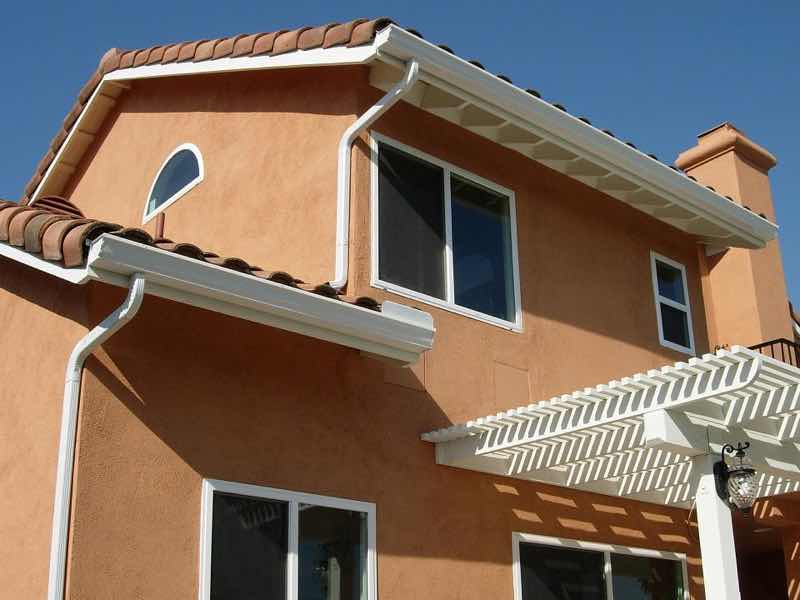 Montclair CA home with a new rain gutter installed.