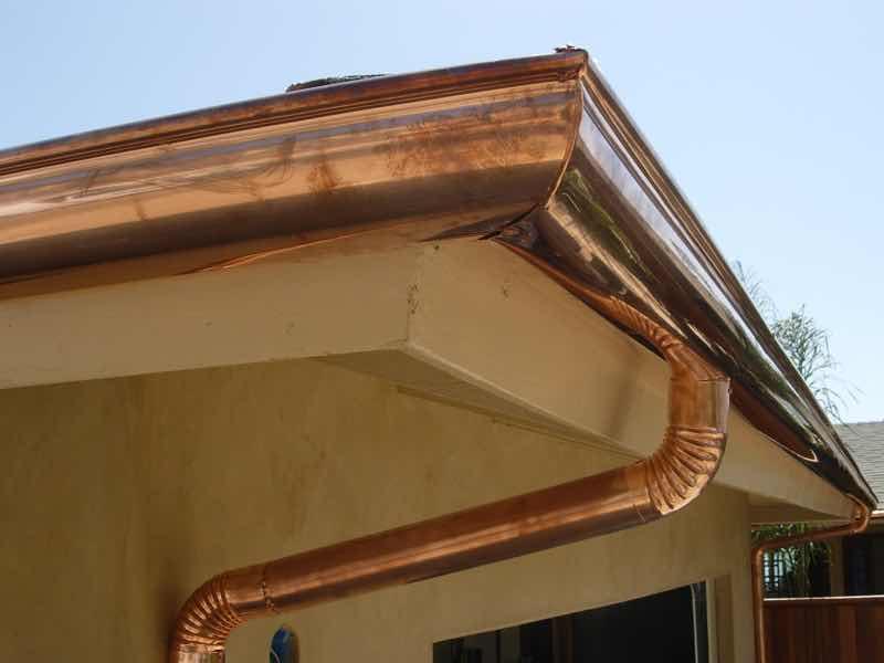 Rain gutter installed in Riverside CA