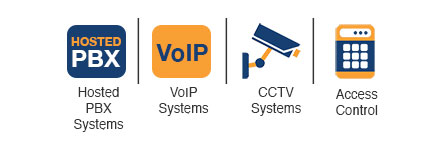 Hosted PBX Systems, VoIP Systems, CCTV Systems, Access Control