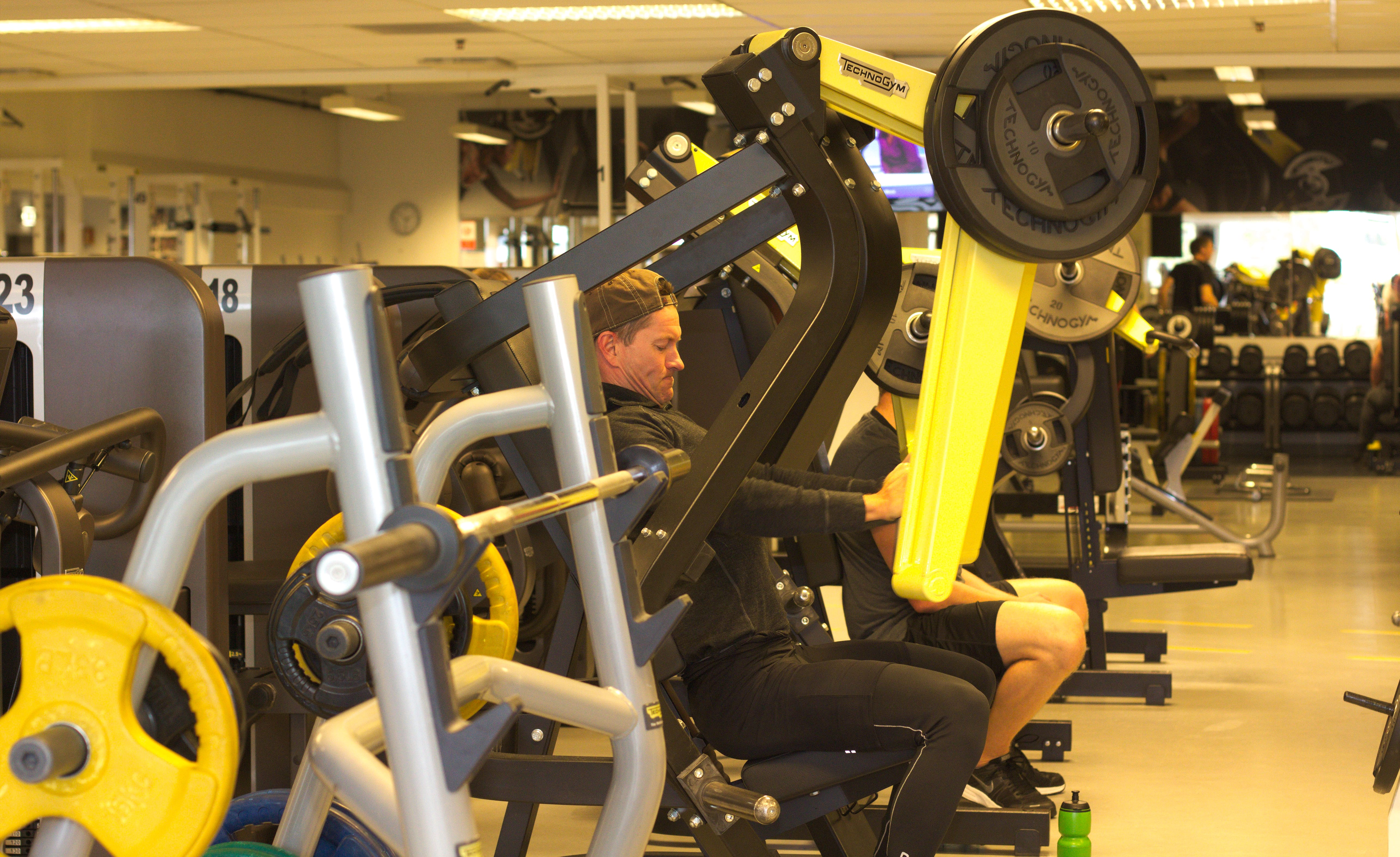 Bildet av styrketreningsrommet