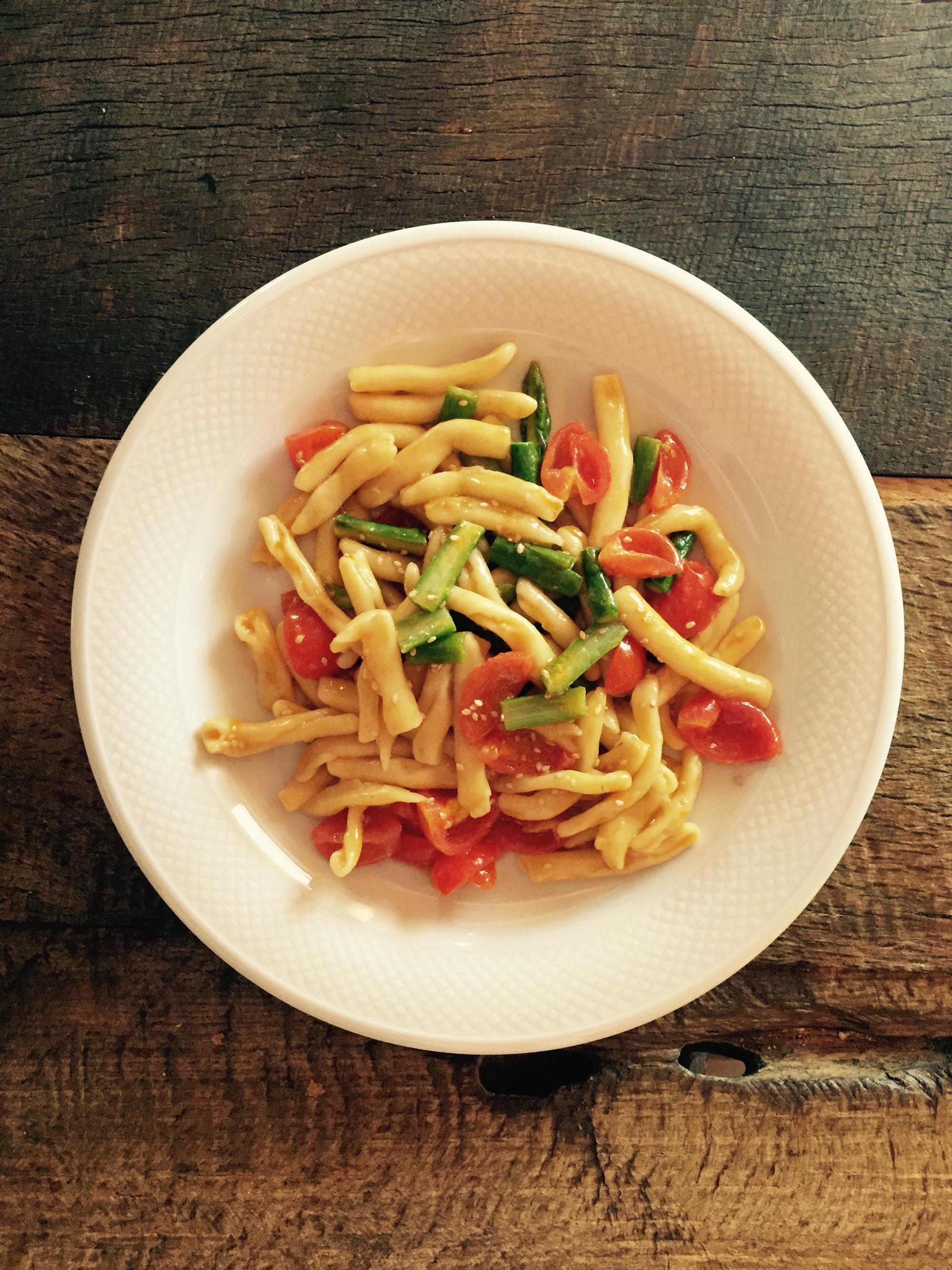 cavatelli asparagi e salsiccia