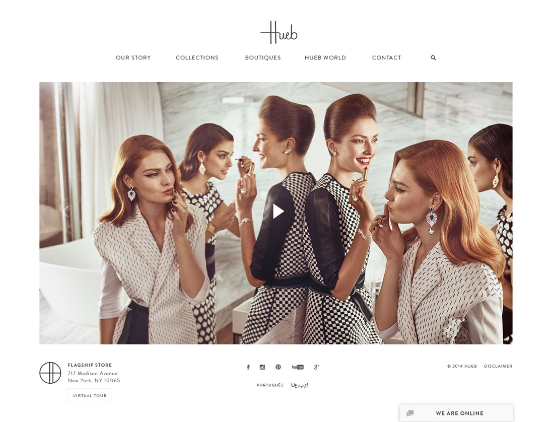 Hueb Jewellery Website