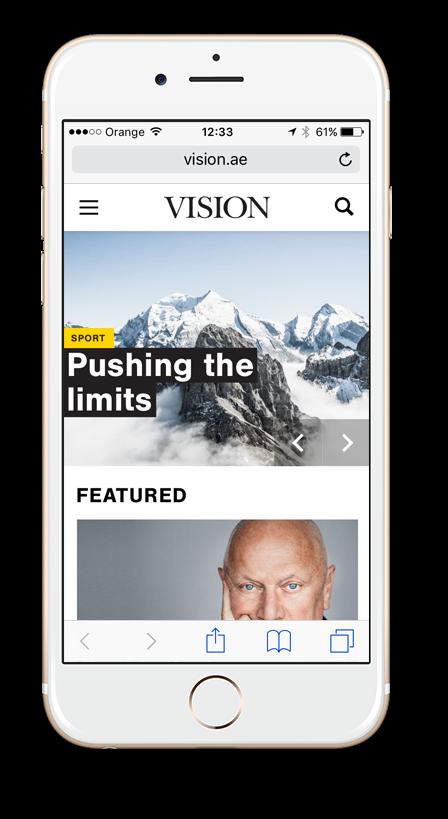 Vision Mobile Website