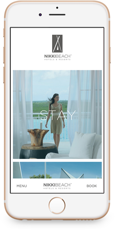 Nikki Beach Hotel Website on Phone