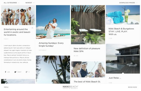 Nikki Beach Hotel Website