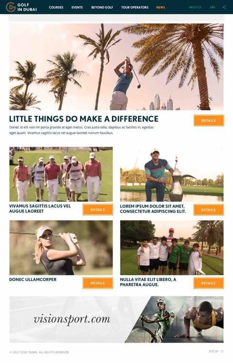 Golf in Dubai Website