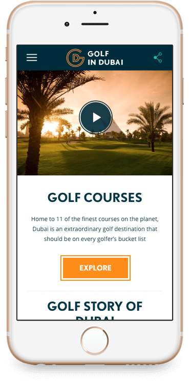 Golf in Dubai Mobile Site