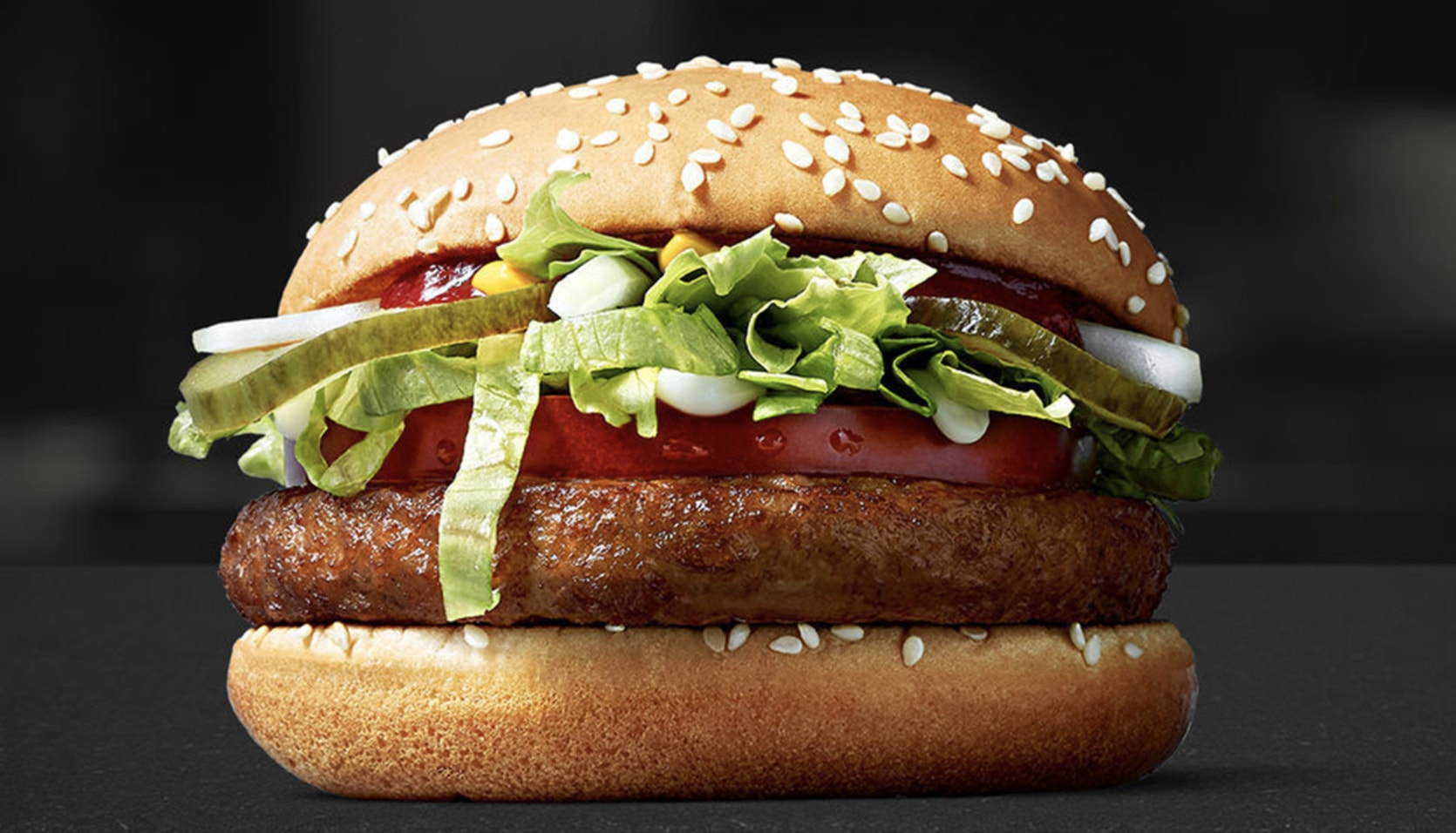 The McVegan Burger from McDonalds