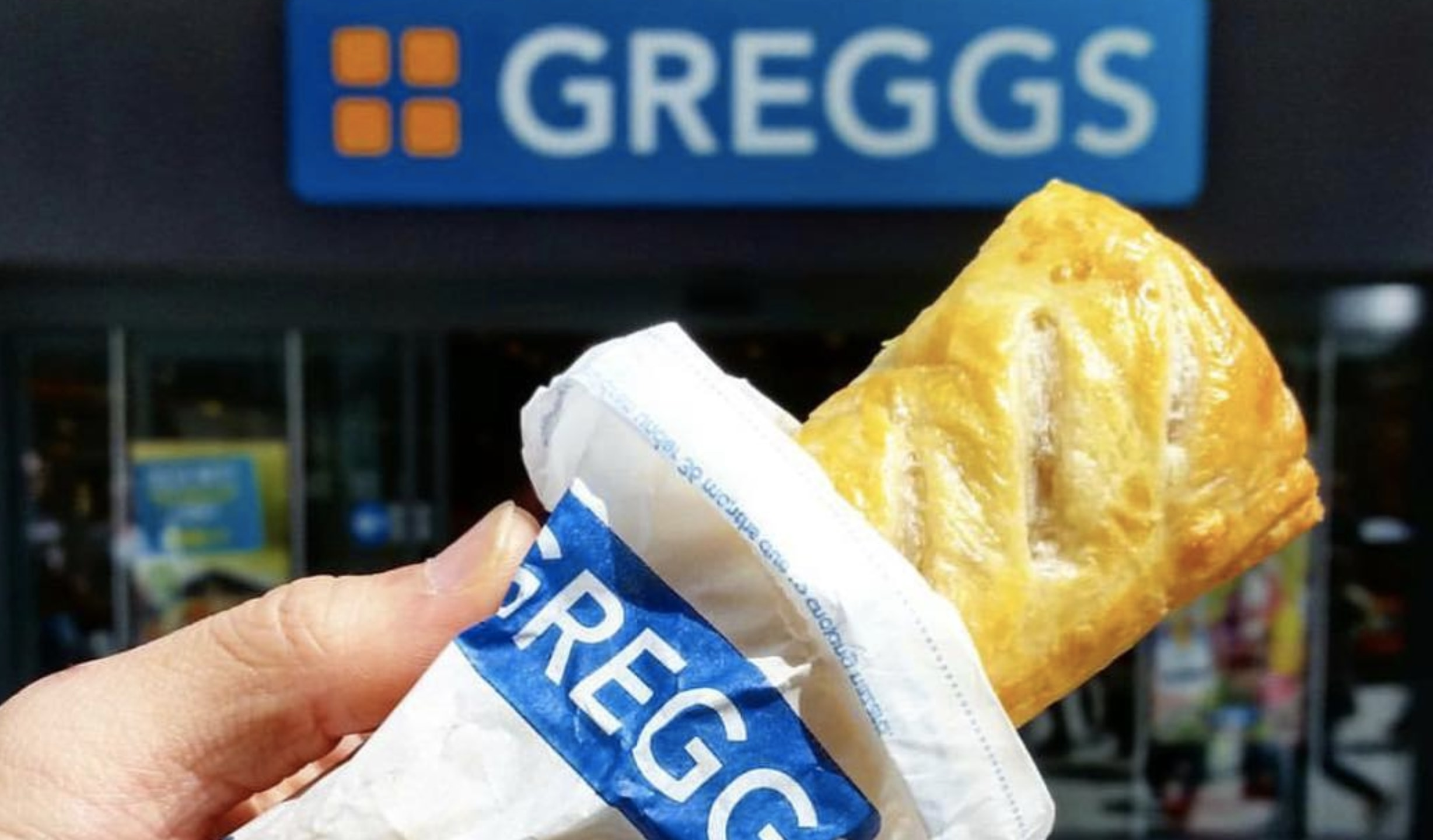 Sausage roll from UK chain bakery Greggs