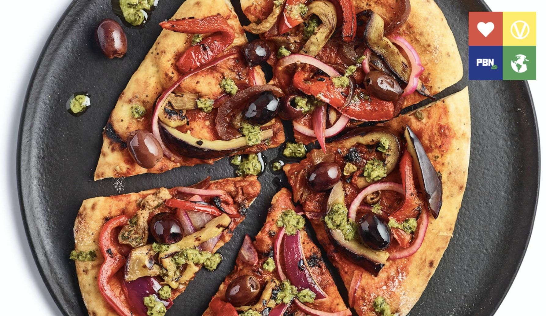 A vegan pizza from Tesco's Wicked Kitchen range