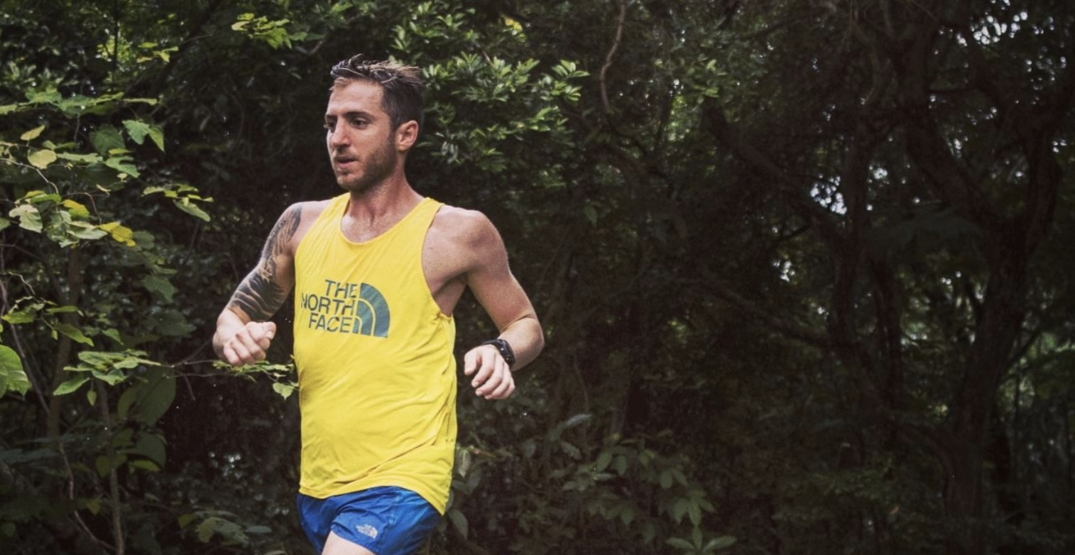 Vegan athlete Vlad Ixel running