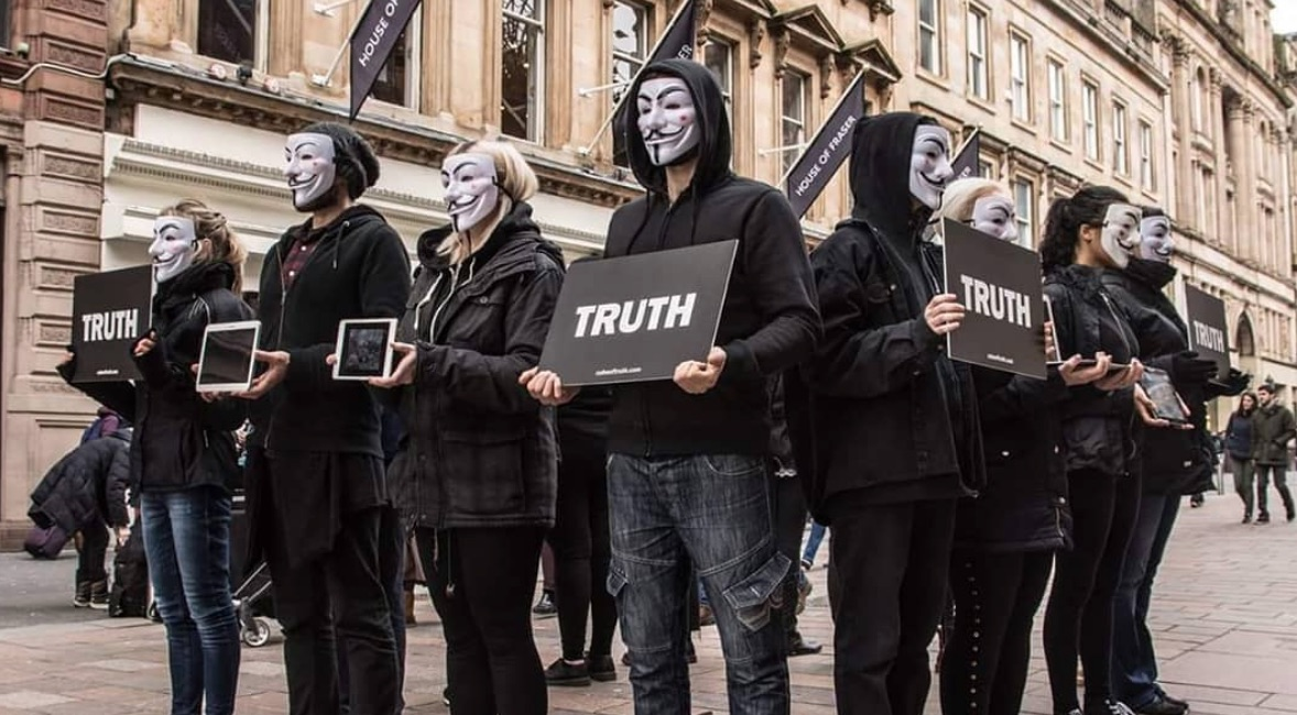 Anonymous For The Voiceless Protest