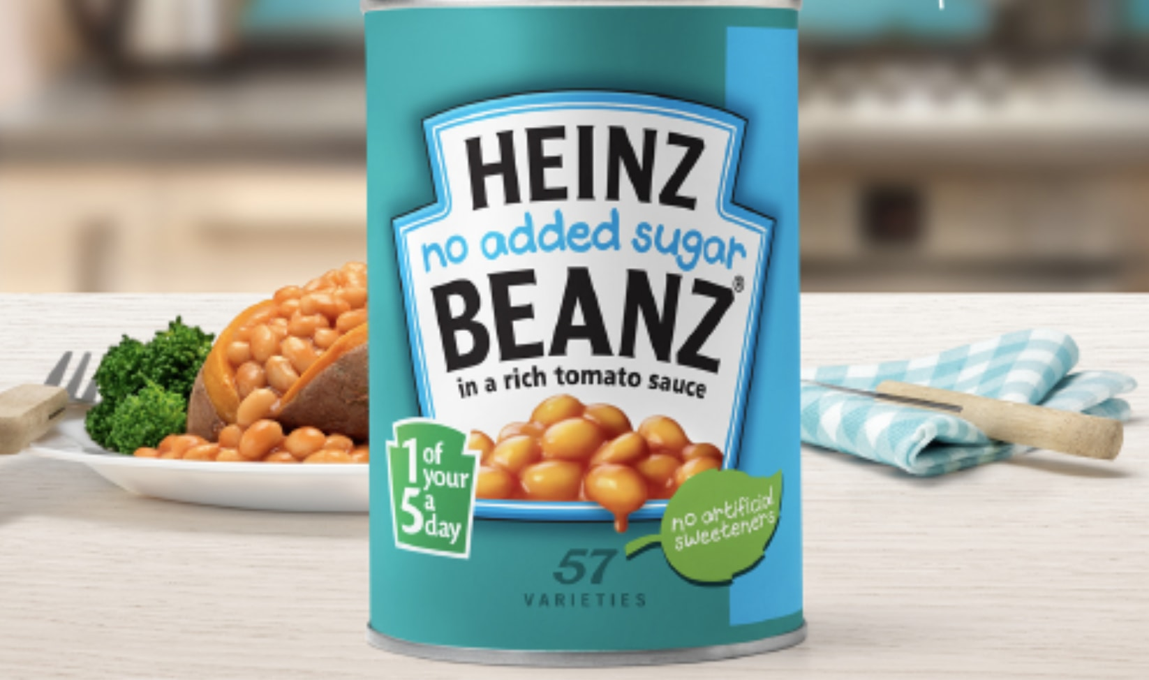 No Added Sugar beans from Heinz