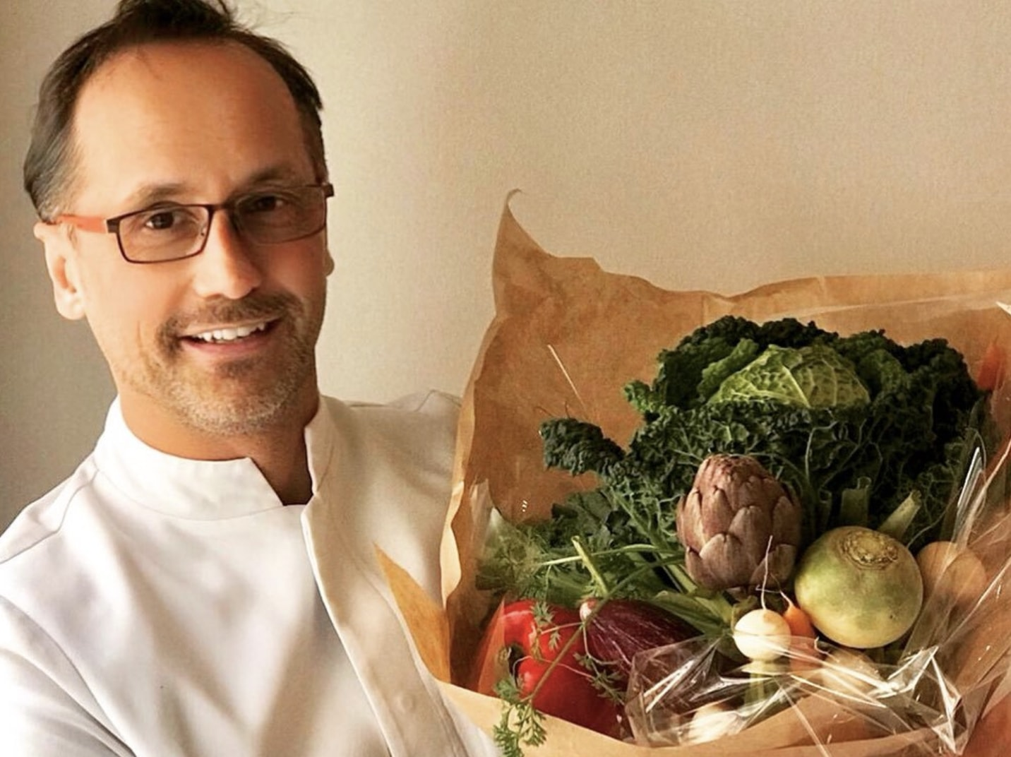French chef and owner of Gauthier Soho vegan Alex Gauthier