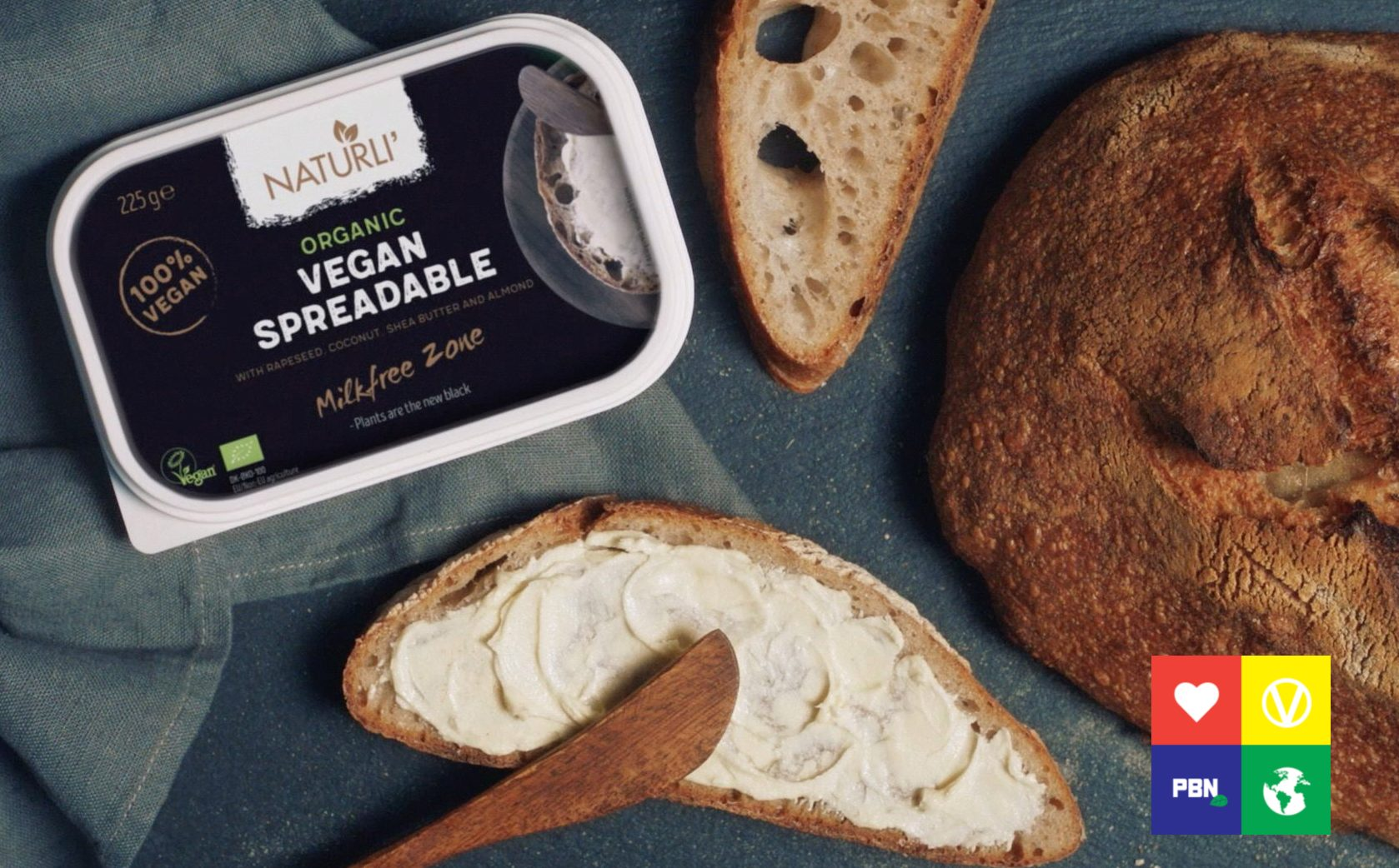 Naturli' spreadable vegan butter