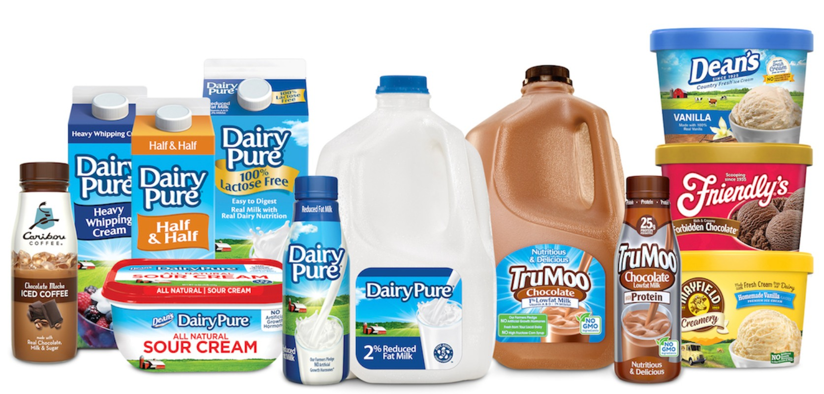 Dairy products made by Dean Foods
