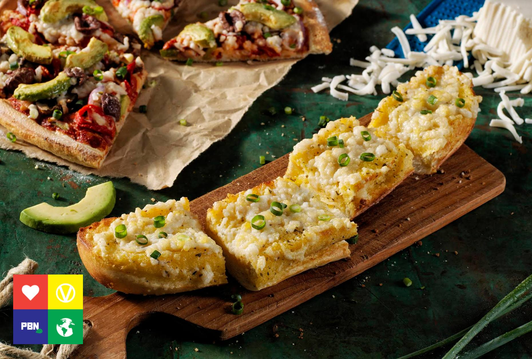 Vegan cheesy garlic bread from Domino's Pizza