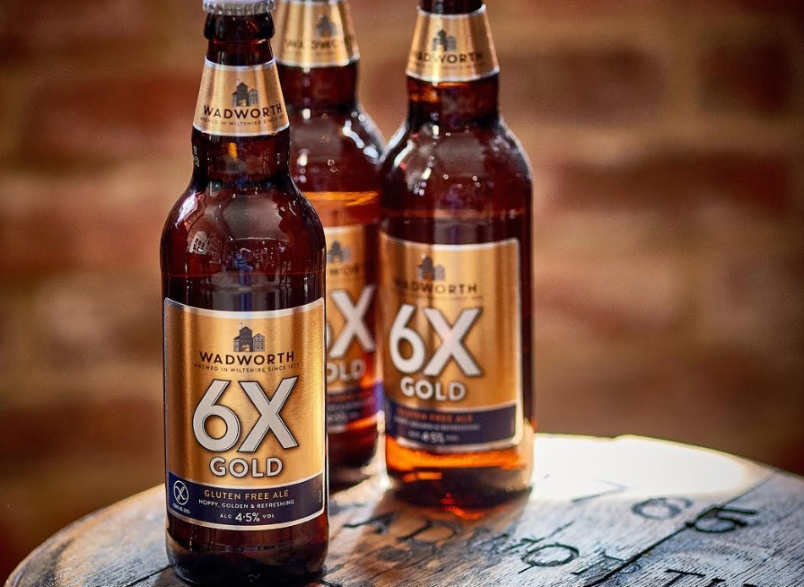 Wadworth's 6X Gold vegan and gluten-free beer