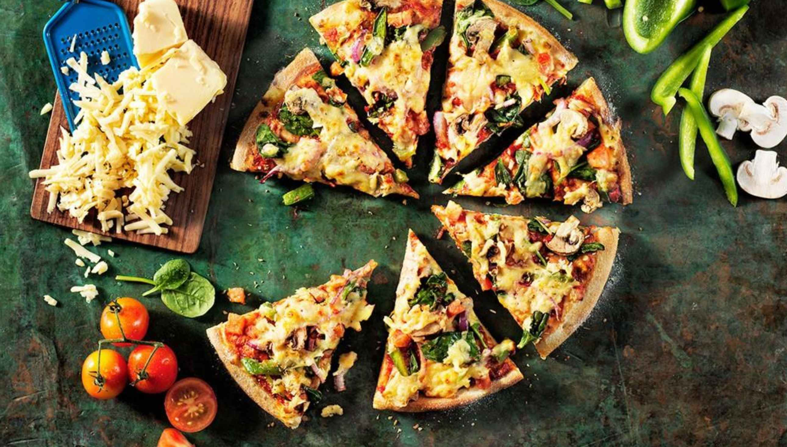 Pizza with vegan cheese from Domino's New Zealand