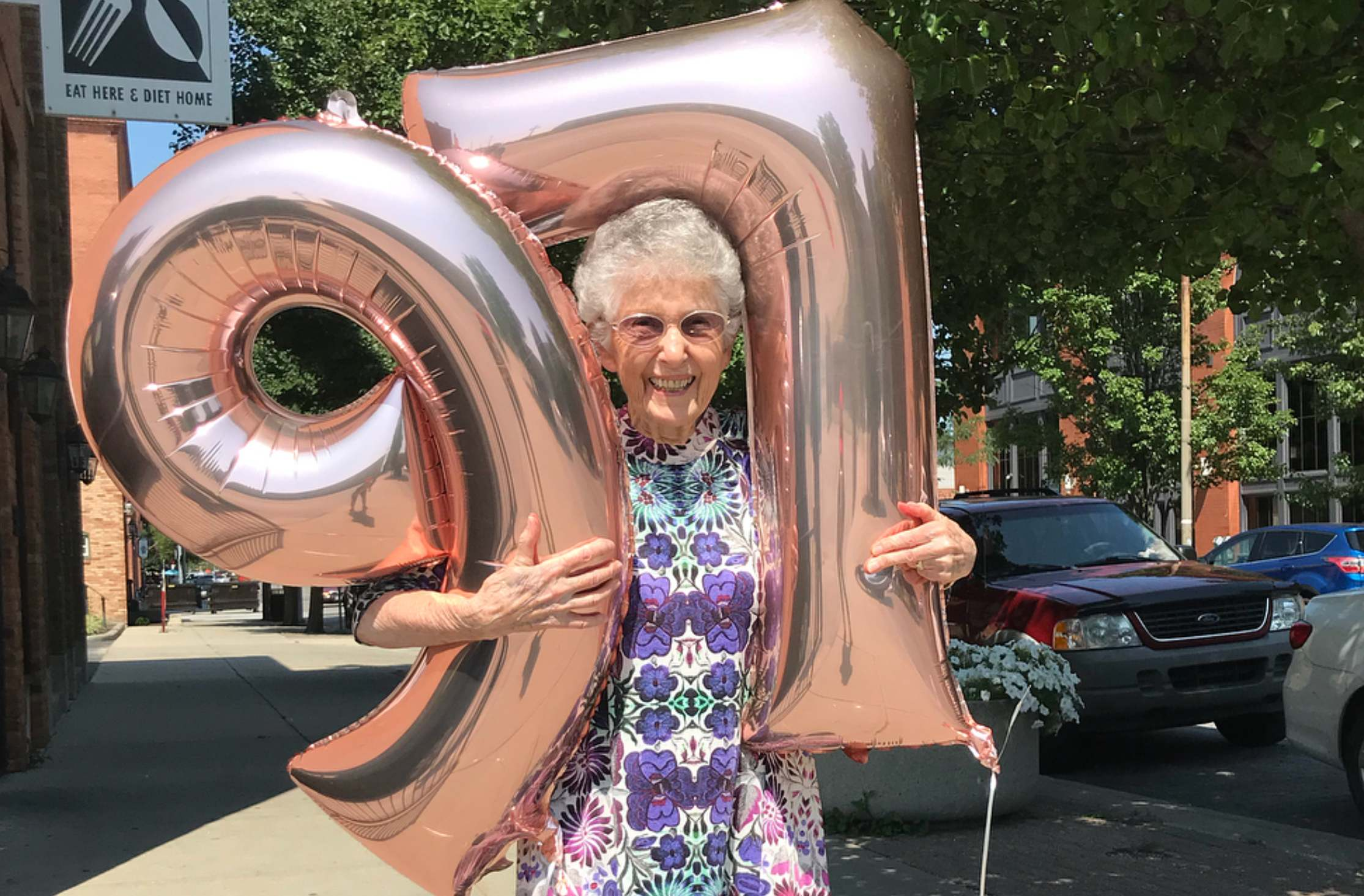 Vegan Anne Evers turns 97