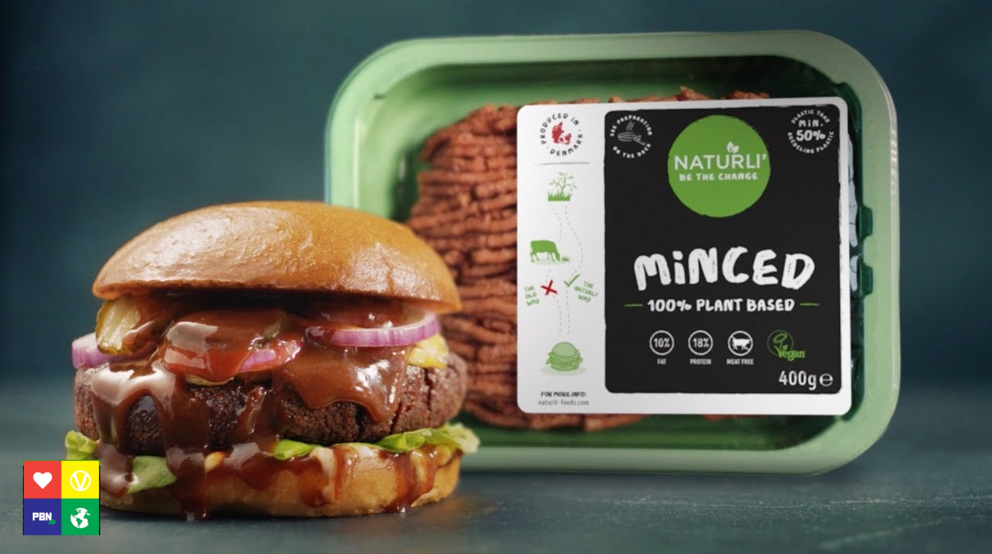 Vegan burger and mince from Naturli' Foods
