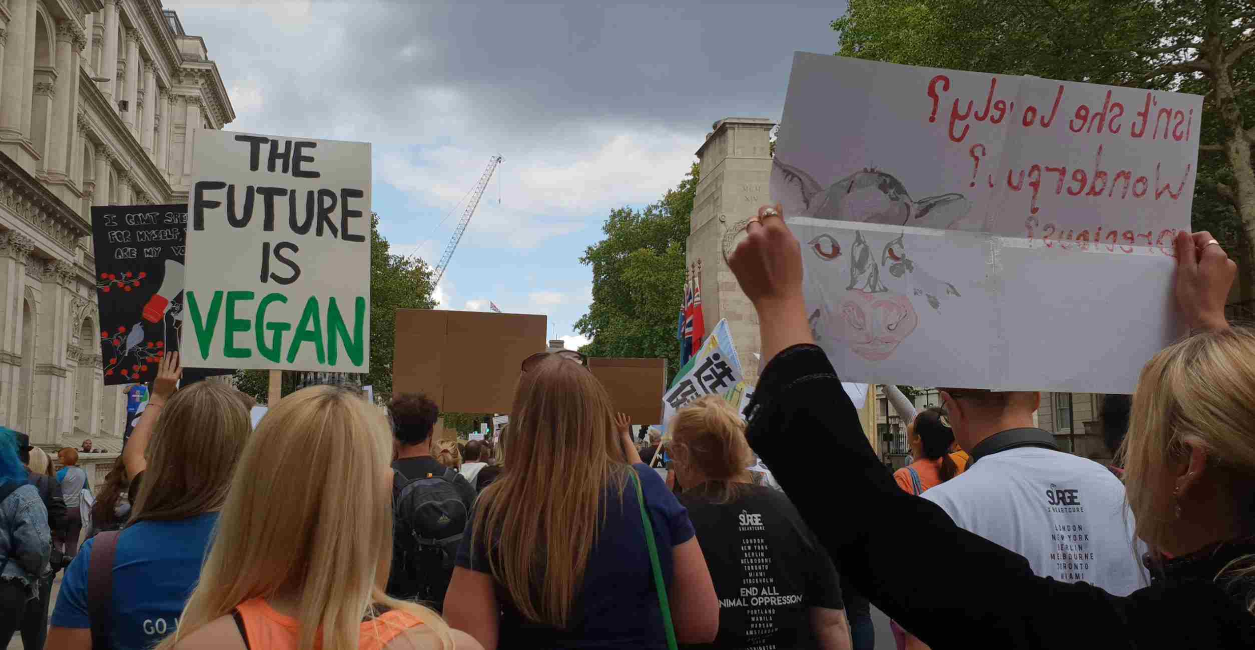 Activists at the London Animal Rights March