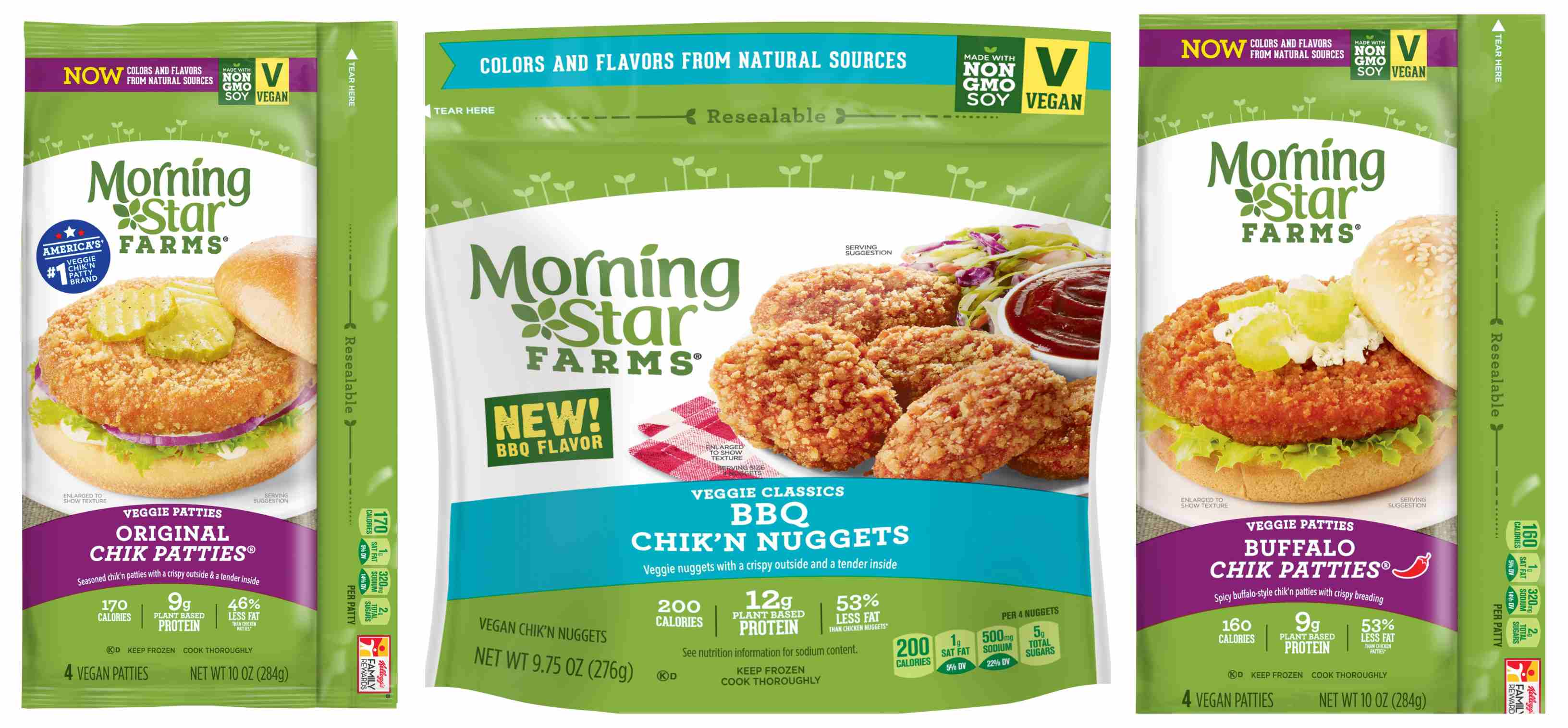 Vegan chicken products from Morningstar farms