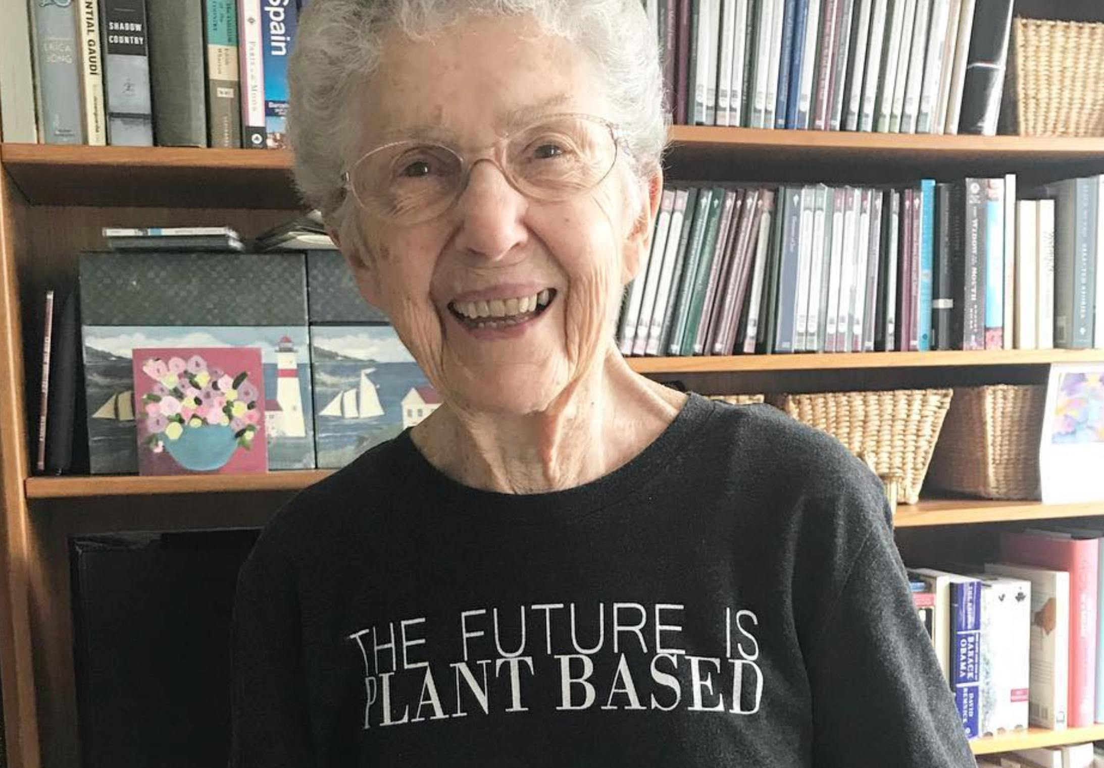 97-year-old vegan Anne Evers