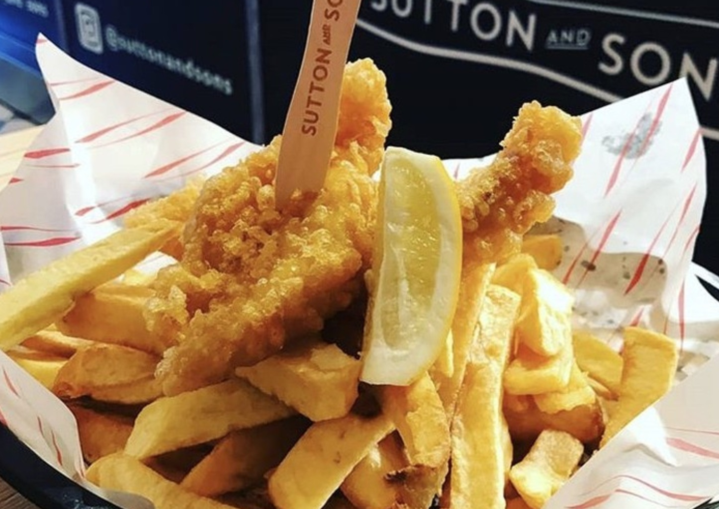 Vegan fish and chips from Sutton & Sons